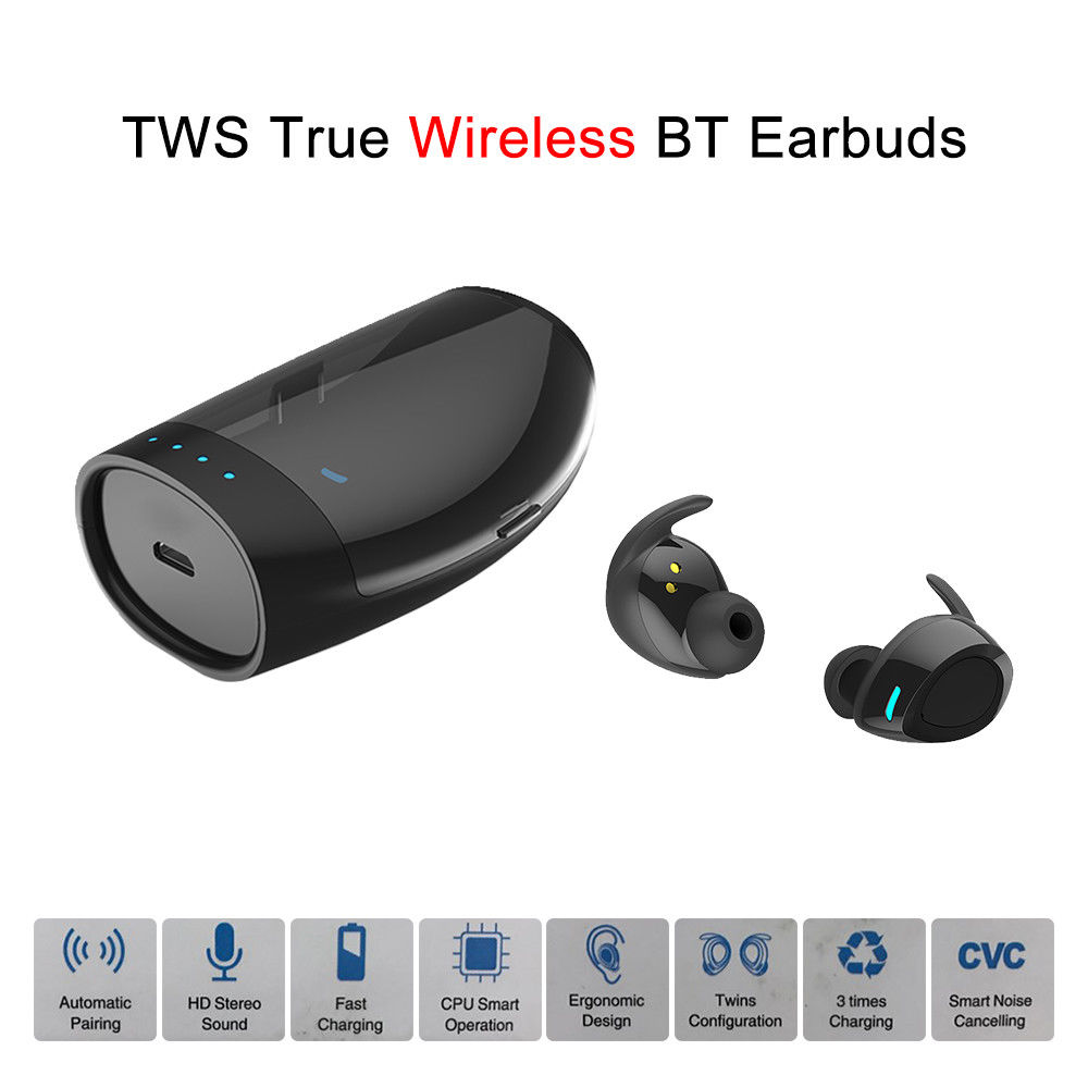 Blueskysea TWS True Wireless Bluetooth Twins Sport Headset Earphone Earbuds Stereo In-Ear W/ Charging Case For IOS Android Phone fajueze fg ea04mp in ear stereo earphone w earbuds purple white