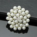High Quality Romantic Pentagon Type Pearls Inlaid With Rhinestone Alloy Hollow Jewelry Brooch For Woman Gift  Wedding