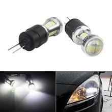 ANGRONG 2x HP24W G4 18 SMD LED Daytime Running Light Bulbs For Citron C5 Peugeot 3008 5008