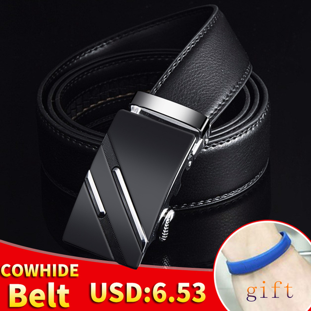 [LFMB]Famous Brand Belt Men Top Quality Genuine Luxury Leather Belts for Men,Strap Male Metal Automatic Buckle 10
