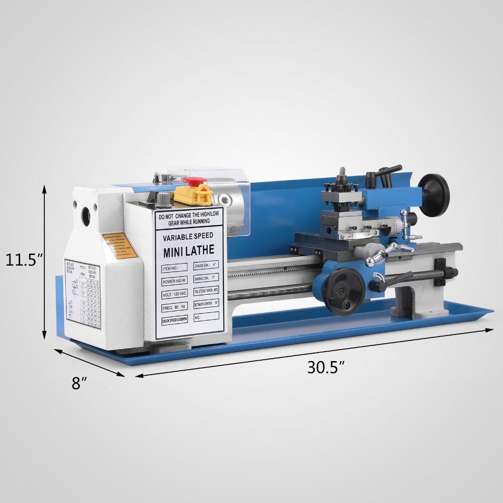 EU warehouse in stock Mini Lathe Variable Speed Tooling Infinite 550W mini lathe