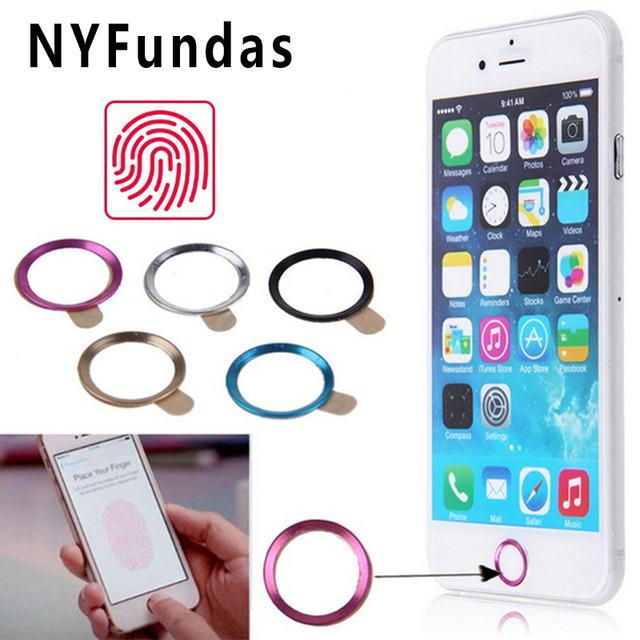 NYFundas 100PCS di Tocco ID Autoadesivo Domestico del Tasto per il iPhone di Apple 7 6S 6 Più SE 5S 5 5C iPad Pro Supporto di Impronte Digitali del telefono adesivi