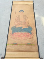 CHINEA FOLK ART Collection Scroll Painting Decorative Wall Paintings Buddha