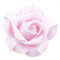 100pcs Foam Pentagon Rose Artificial Flower Head Wedding Decoration DIY Wreath Gift Box Scrapbooking Craft Fake