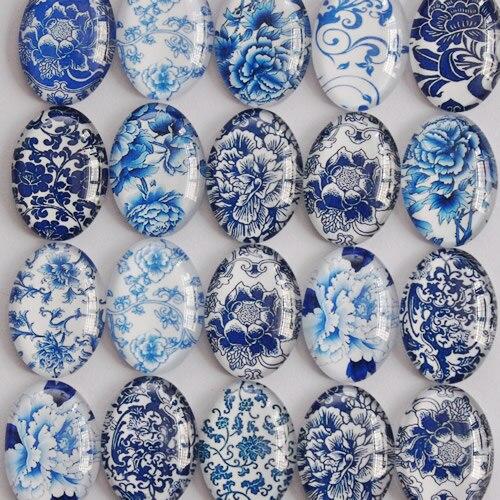 98bc151d6 30x40 ملليمتر مختلط أنماط البيضاوي الزجاج كابوشون قبة قلادة إعدادات حجاب  المجوهرات الحقائق 20 قطعة/الوحدة (K02945)