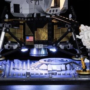Image 5 - Светодиодный светильник Vonado серии «сделай сам», совместимый с Lego 10266 Apollo 11, лунное мусорное ведро, светодиодный светильник, рождественский подарок, игрушки для детей
