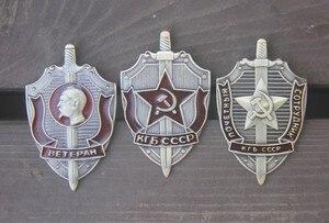 KGB российский cccp Значки для одежды, красные армейские русские металлические шпильки для бейджей, размеры 5,3 см * 3,2 см