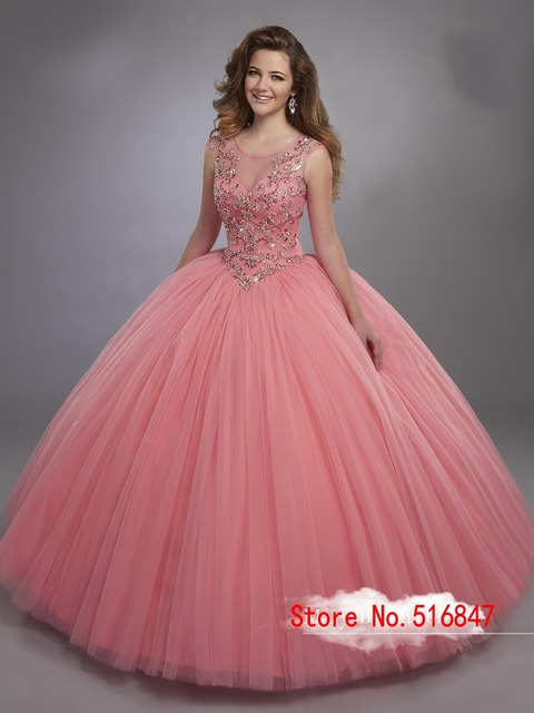 b887f5b8a8 Royal Blue Tulle Ball Gown Quinceanera Dresses Cap Sleeve Sweet 16 Dresses  Exquisite Beads 15 Years