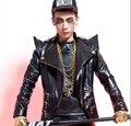 Мужчины в певица костюмы rock приталенный жакетик-болеро пальто DSDJ ночные клубы кожа куртка / S-XL