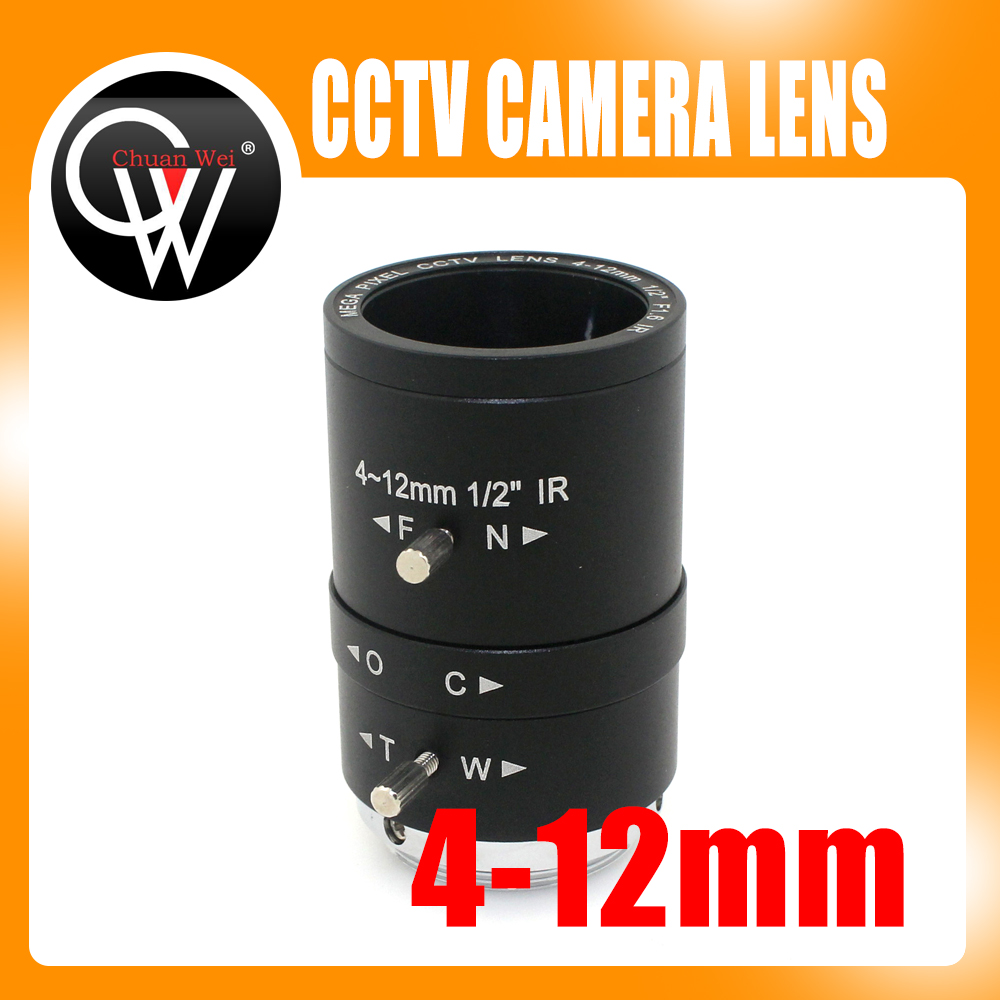 MP 4-12mm CS LENS 1/2 IR CS Mount Varifocal Manual Iris CCTV Lens for CCTV Security Cameras BOX 8mm 12mm 16mm cctv ir cs metal lens for cctv video cameras support cs mount 1 3 format f1 2 fixed iris manual focus