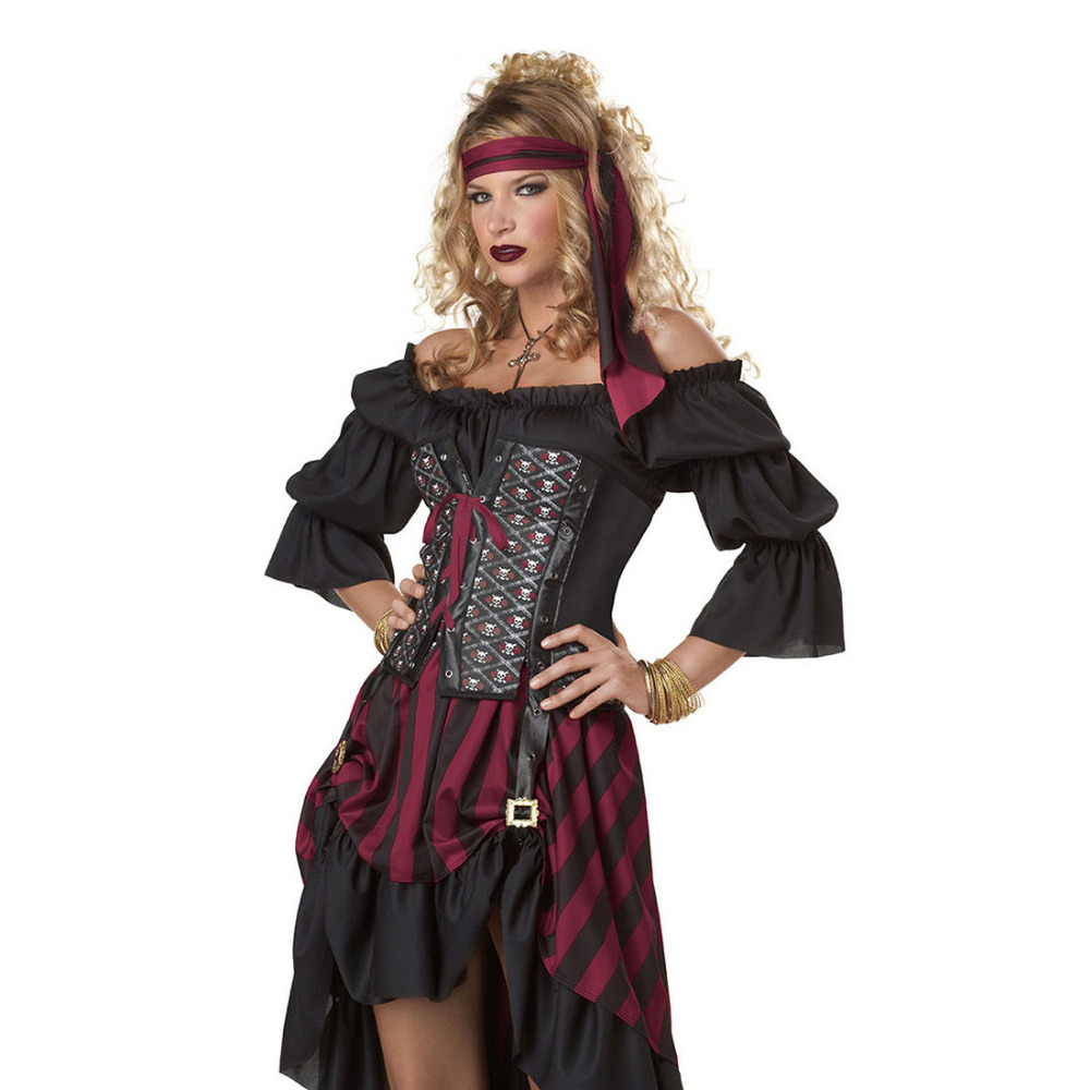 Adult Women Pirate Costume Female Thief Cracksman Costume Traditional Gypsy  Costume Role Play Game Halloween Party Dress-in Holidays Costumes from  Novelty ...