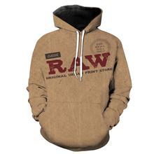 Classic RAW 3D Print Letters Jacket Men/women Vintage Streetwear Sportswear Tracksuits Boys Modis Hoodies Mens Coat Clothes 6XL
