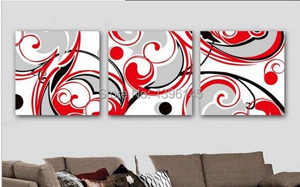 Handgemalte schwarz wei rot wand kunst dekor f r for Wand kunst wohnzimmer