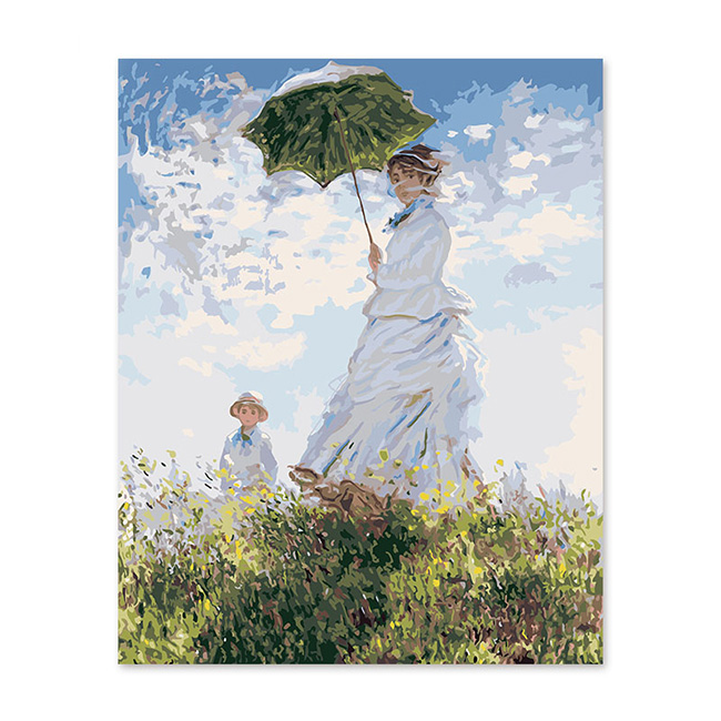 Flower Girl Oil Painting By Numbers Wall Arts Acrylic Paint DIY Home Decoration
