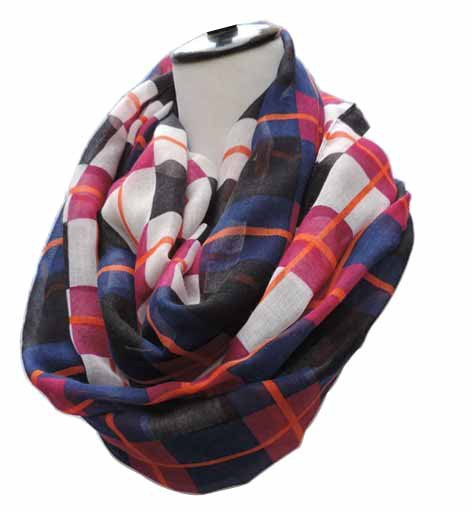 2018 New Fashion Spring Colorful Plaid Infinity   Scarves   Check Long   Scarf     Wraps   For Female Free Shipping