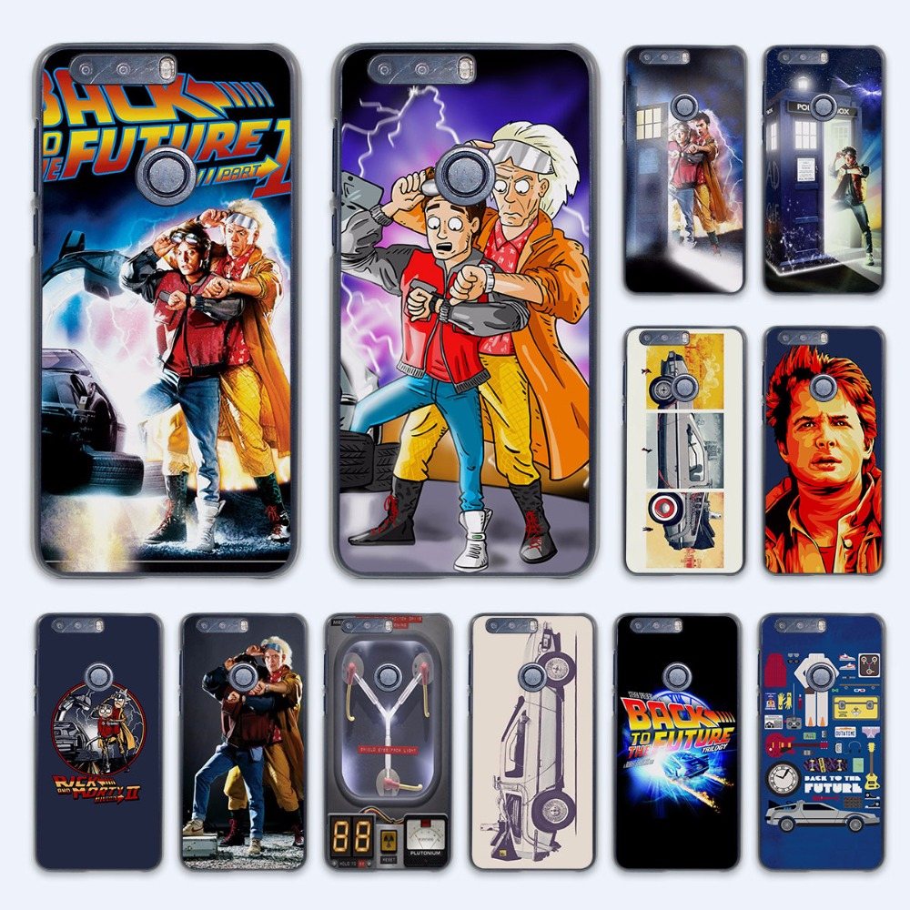 Back To The Future boy design hard transparent Case Cover for Huawei Honor 7 8 V8 G8 5 5C 5X 4C 4X 6 Plus phone case
