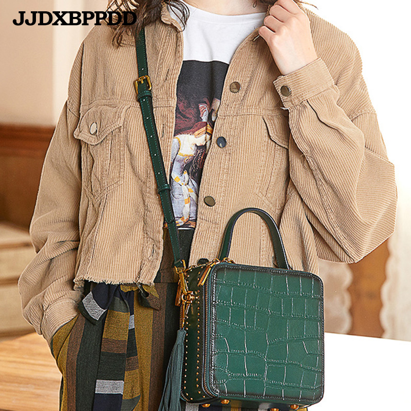 Nouveau luxe femmes en cuir véritable sac à bandoulière dames sacs à main qualité marque rabat sacs de messager femme petit fourre-tout sac à bandoulière - 3