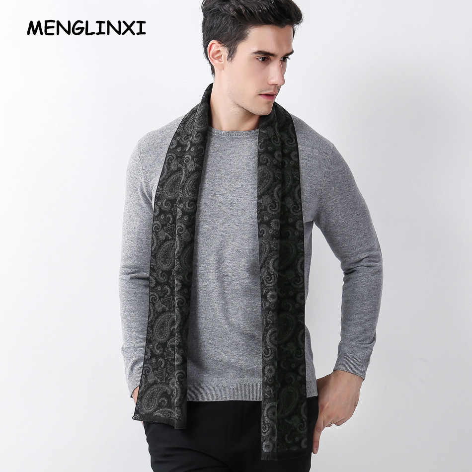 MENGLINXI 2020 New Paisley Design Luxury Brand Scarf Men Warm Scarves Autumn Winter Fashion Cashmere Scarf Man Casual Scarf