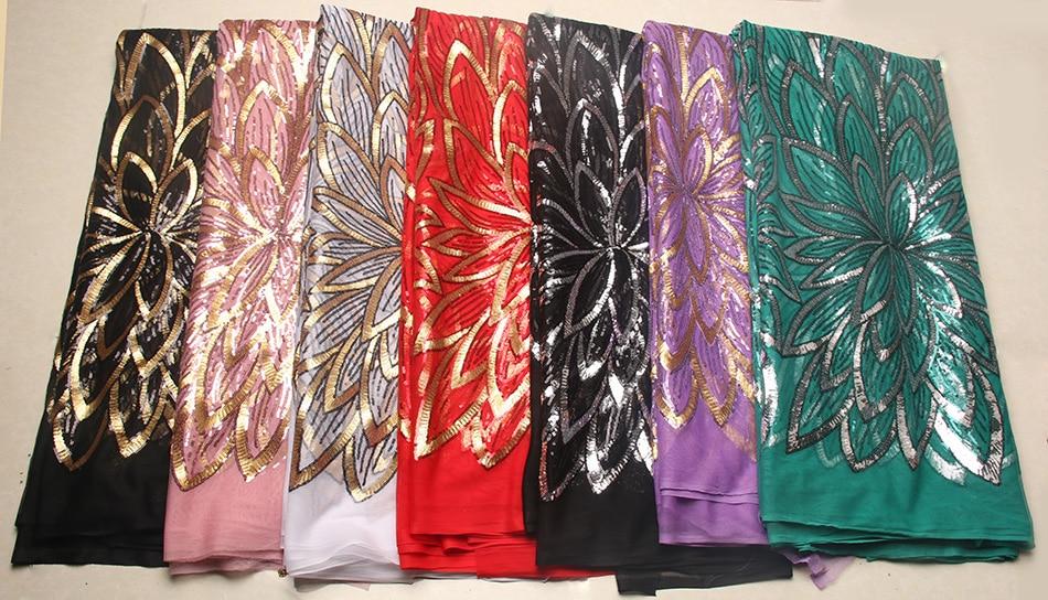 Tejidos de encaje blanco nigeriano negro plateado, tela de bordado de - Artes, artesanía y costura - foto 6