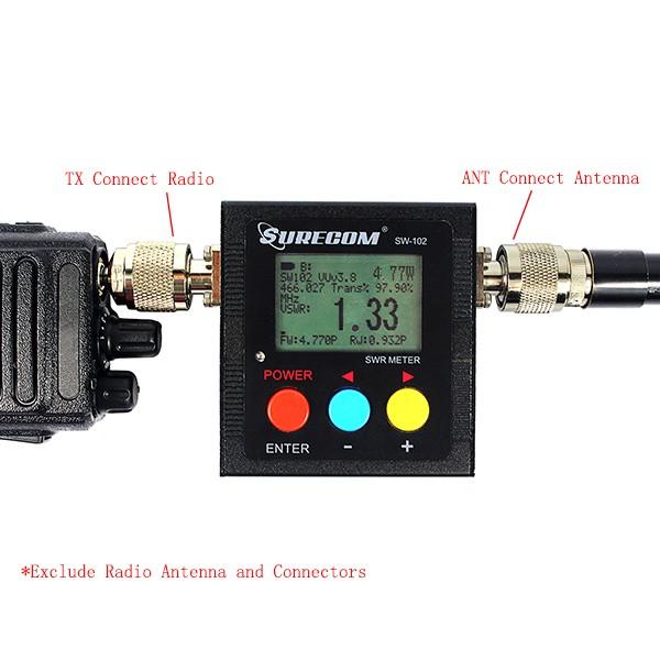 Hot Black SURECOM  SWR Meter SW-102  (1)
