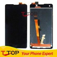 Comercio al por mayor Negro Nuevo Para Highscreen Omega Prime S Pantalla LCD Digitalizador Y Pantalla Táctil 1 PC/Lot