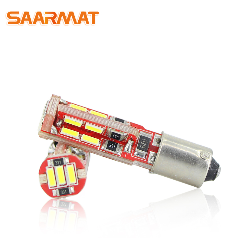 SAARMAT 2x LED BAX9S H6W lamp 6000K White 19SMD Chips Canbus No Error LED Car Parking Lights bulb DRL 12V For Mercedes W210 E420