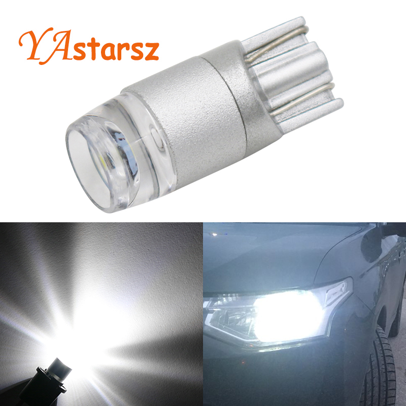 YAstarsz T10 led Bulb W5W LED Interior Lamp Car DRL 3030 SMD 194 168 COB Crystal blue Pink Yellow Red Blue Green White 12V 6000k scoe t10 w5w dc12v 20smd 5050led car styling led light bulb source blue crystal blue green red yellow white warm white 168 194