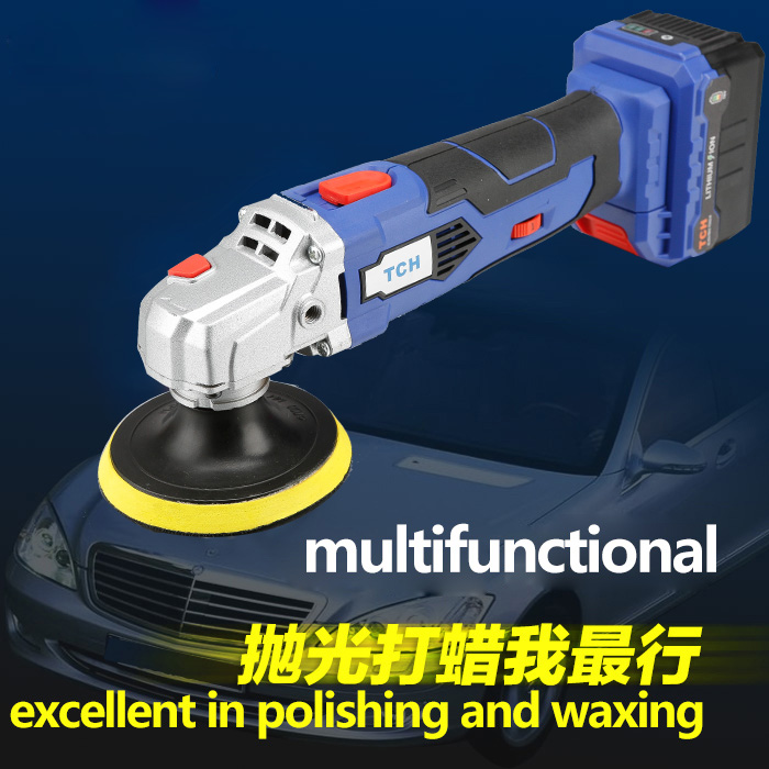 Lithium Cordless TCH Adjustable Polisher Portable Cleaner  Machine 16V Speed Battery Machine Car Waxing Polish