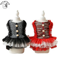 Cute Bear Dog Dress Winter Pet Dog Clothes Puppy Tutu Skirt For Small Dogs Princess Dresses