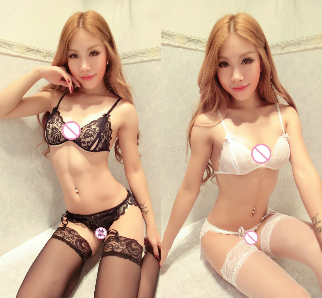 Sexy Lingerie Sexy Lace Three Point Set Of Open Bra -2155