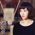 2015 Hot Women's Round CZ Stone Necklace Stainless Steel Silver Rose Gold Cute Austrian Crystal Necklace Feminino Jewelry