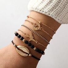 Hot Sale Beads Gold Shell Bracelet For Women Accessories Charm Friendship Bohemian Beach Jewelry