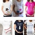 Camisas Tops maternidade roupas de verão Projeto Múltipla presente hamile TShirt De Maternidade para as mulheres grávidas de Manga Curta Casuais t-shirt