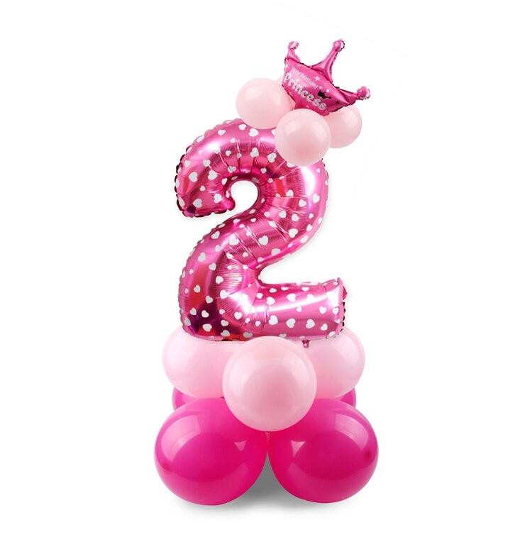 c948e327b Compre Decoraciones De La Fiesta De Cumpleaños 17 UNIDS Azul Rosa ...