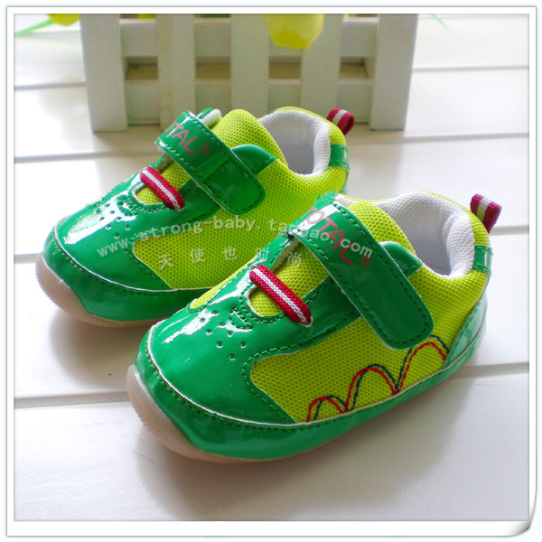 Total green male sport shoes outsole toddler cow muscle shoes indoor shoes