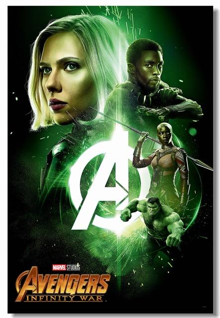 custom canvas wall decal avengers infinity war poster black widow