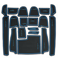 Dongzhen Auto Car Gate Slot Pad car-cup mat Door Tank Pad rubber for hyundai elantra 2012 Car-styling Accessories