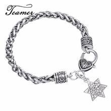 Teamer – Bracelet étoile de David pour homme, pendentif surnaturel, nœud, Talisman, Wicca, amulette, 12 tribal d'israël, bijoux