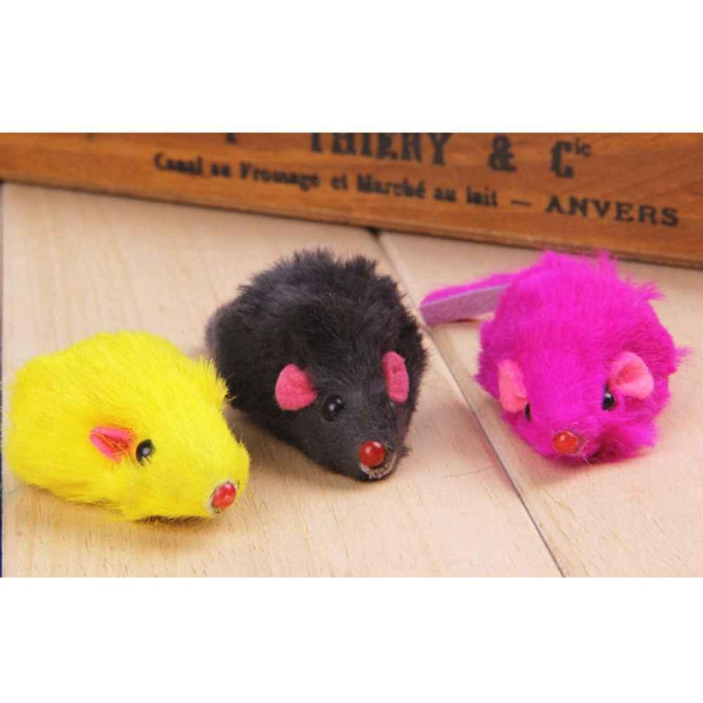 10 chiếc Lông Thỏ Giả Chuột Mèo Cưng Đồ Chơi Mini Ngộ Nghĩnh Chơi Đồ Chơi Cho Mèo Con Mèo Con 5cm