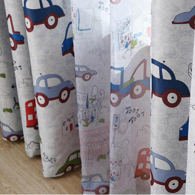 Cartoon Car Blinds Cloth Curtains for Boys Girls Bedroom Child Blackout Curtain Drape Children Curtains For Living Room WP146&30