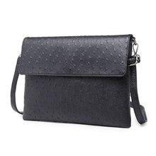 Men's Messenger Bag Fashion Leather bag Casual one shoulder bags crossbody bag Men's handbag envelope