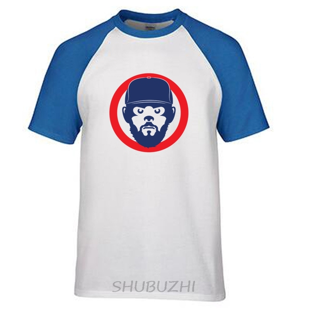 chicago cubs jake face t shirts whitegray streetwear hip hop