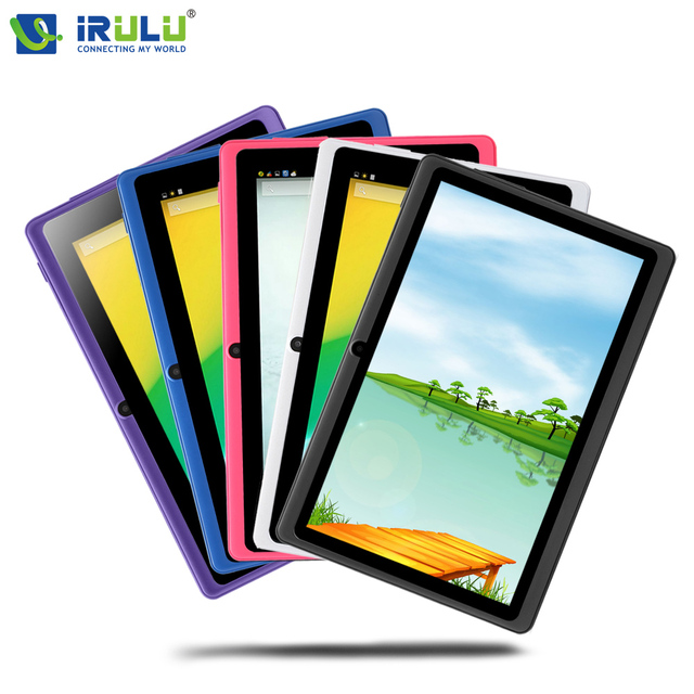"""Irulu expro x1 7 """"tablet pc quad core android 4.4 tablet 8 gb rom dupla cam google app play usb wifi multi-cores hot"""