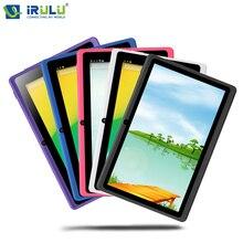 IRULU eXpro X1 7 «Tablet PC Quad Core Android 4.4 Tablet 8 GB ROM Double Cam Google APP Jouer USB WIFI Multi-couleurs chaude