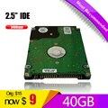 """A + + + + envío gratuito 40 GB HDD IDE HDD de 2.5 """" PATA 40 GB 5400RPM disco duro para el ordenador portátil notebook"""