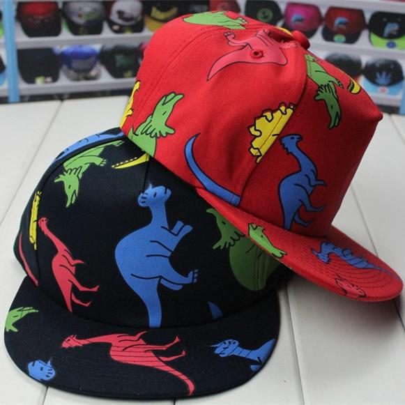 48da40edc7843 Snapback Dinosaur Cartoon Hat Ms. Male Hip-hop Flat Along Summer style Cap  Cotton Sun Han Banchao Adjustable Baseball Caps