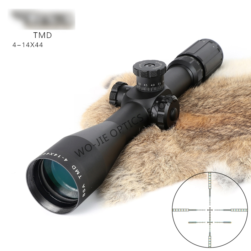 Hunting BSA OPTICS TMD4-14X44FFP Tactical Riflescope Without  Illumination  Rifle Scope Sniper Optic Sight Hunting Scopes
