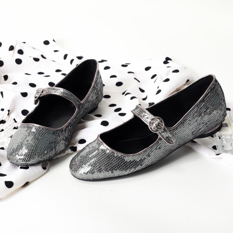 9ae2dc864f4f rosado Negro Color Simple Lentejuelas Salvajes Sólido Con Moda Zapatos  ¡2019 Primavera Nueva Casuales Y plata Mujeres Otoño Planos qwRaS4Z