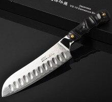 Kochmesser küchenmesser Japanische küchenmesser Santoku messer VG10 kochmesser edelstahl Fugubiki fleisch cleaver freies verschiffen 18