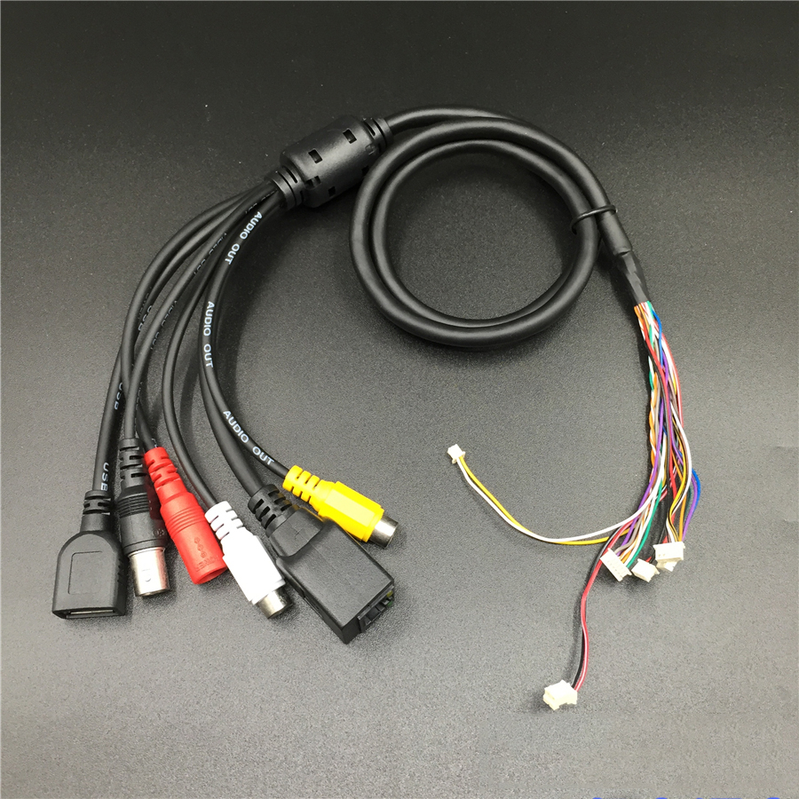 Multifunction Network Camera tails RJ45 + BNC + USB + DC + RCA multifunction monitor installed wire line цена и фото